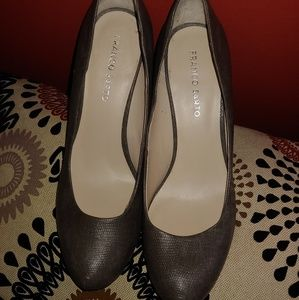 Franco Sarto leather Heather grey pump